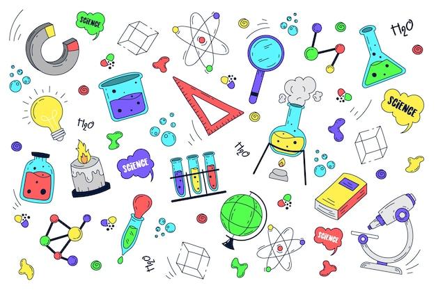 Ręcznie rysowane nauki edukacja tło