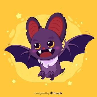 Ręcznie rysowane nietoperz halloween