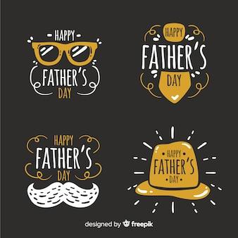 Ręcznie rysowane odznaka dzień ojca