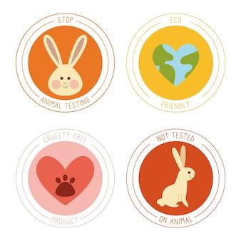 Ręcznie rysowane odznaki cruelty free