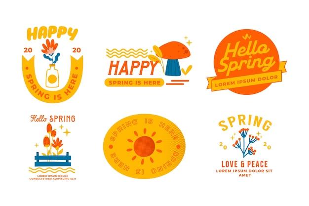 Ręcznie rysowane odznaki sprzedaż wiosna