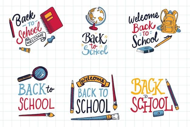 Ręcznie rysowane odznaki szkolne
