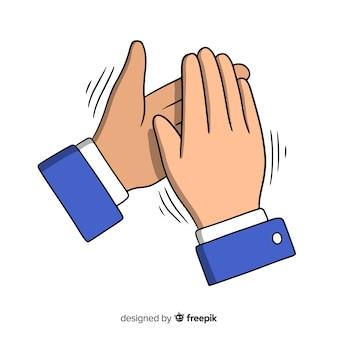 Ręcznie rysowane oklaski