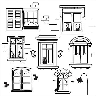 Ręcznie rysowane okna