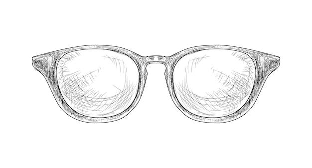 Ręcznie rysowane okulary hipster ilustracji wektorowych