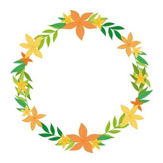 Ręcznie rysowane onam dekoracje kwiatowe
