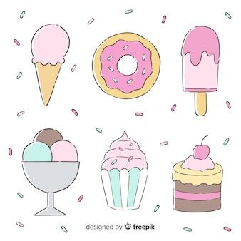 Ręcznie rysowane opakowanie deserowe