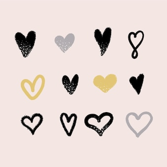 Ręcznie rysowane opakowanie serca
