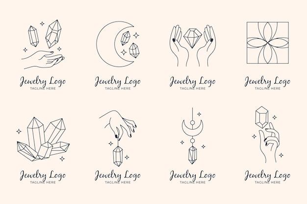 Ręcznie rysowane opakowanie z logo biżuterii