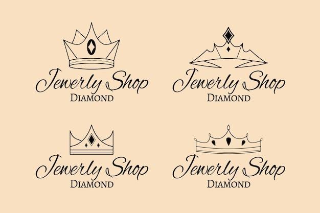 Ręcznie Rysowane Opakowanie Z Logo Biżuterii Premium Wektorów