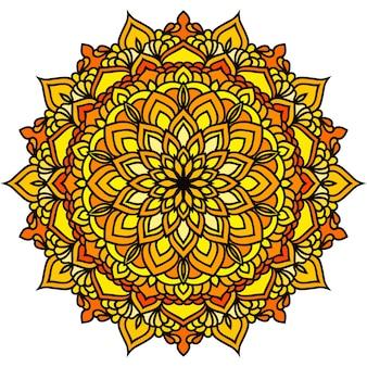 Ręcznie rysowane orientalne ozdobne etniczne koronki okrągłe mandali