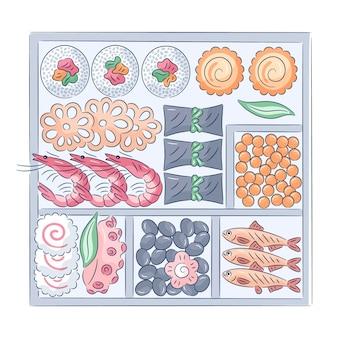 Ręcznie rysowane osechi ryori