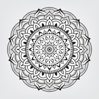 Ręcznie rysowane ozdobny mandali arabski islamski styl wschodni