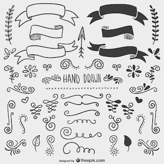 Ręcznie rysowane ozdoby