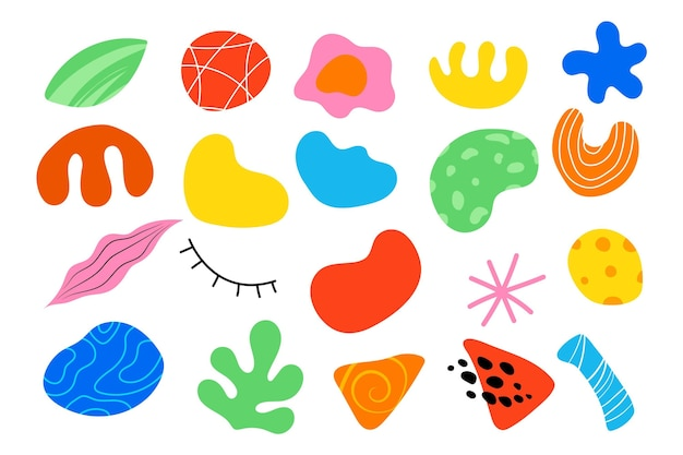 Ręcznie rysowane pakiet abstrakcyjnych kształtów