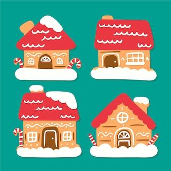 Ręcznie rysowane pakiet dom z piernika