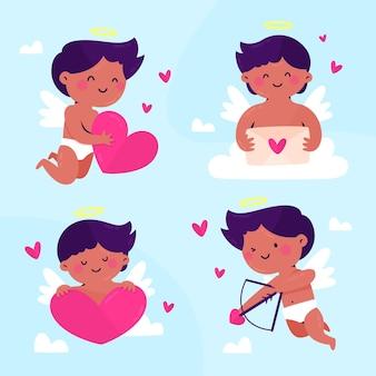 Ręcznie rysowane pakiet postaci amora