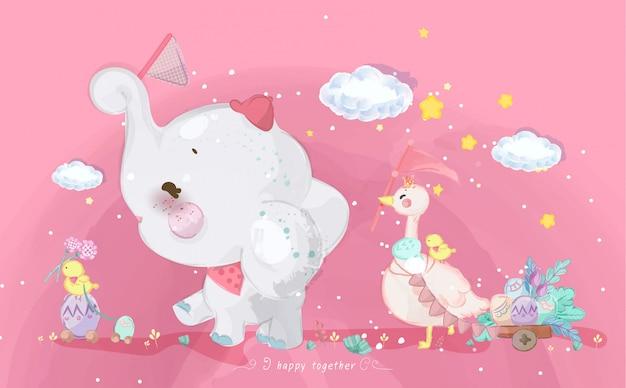 Ręcznie rysowane parada doodle zwierząt.