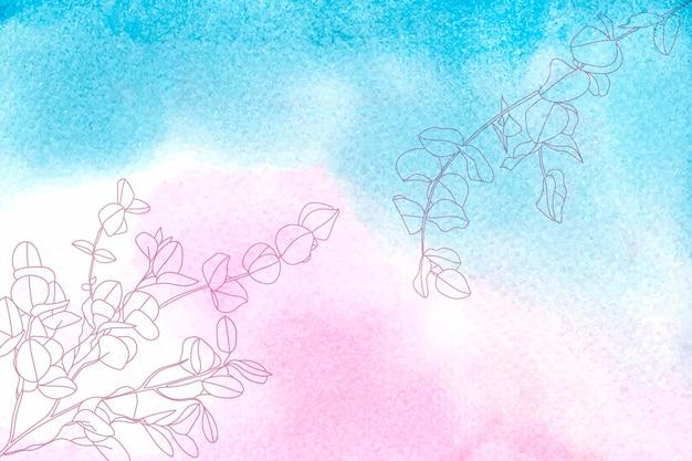 Ręcznie rysowane pastelowe tło