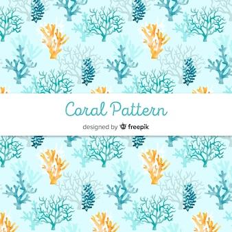 Ręcznie rysowane pastelowy kolor koral tło