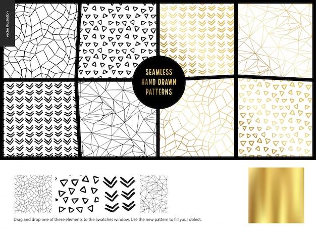 Ręcznie rysowane patternswhite