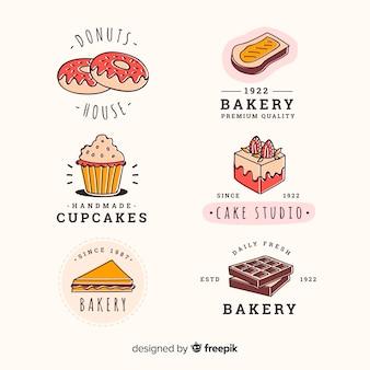 Ręcznie rysowane piekarnia kolekcja odznak