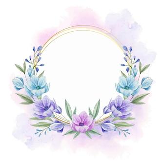 Ręcznie rysowane piękna rama kwiatowy