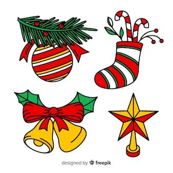 Ręcznie rysowane piękną świąteczną dekorację