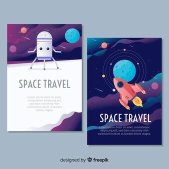 Ręcznie rysowane plakat kosmosu