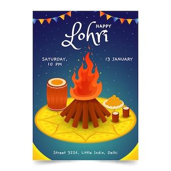 Ręcznie rysowane plakat lohri