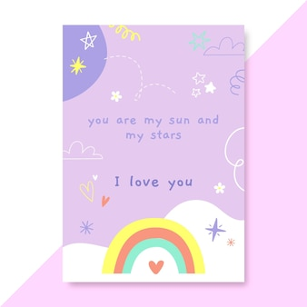 Ręcznie rysowane plakat miłości dziecięcej