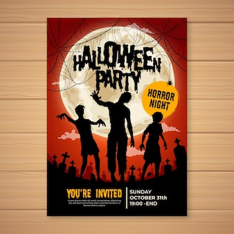 Ręcznie rysowane plakat party halloween
