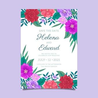 Ręcznie rysowane plakat ślubny