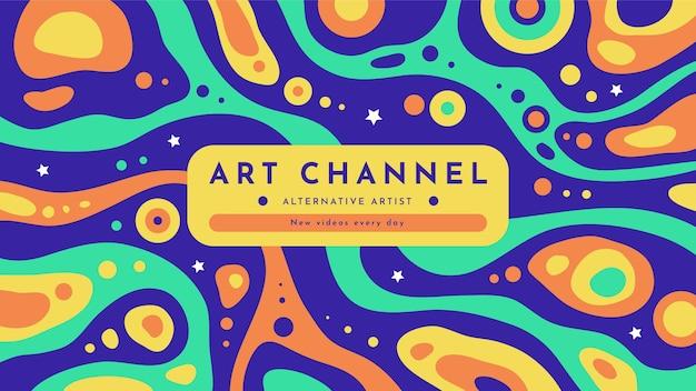 Ręcznie rysowane płaska, psychodeliczna, psychodeliczna sztuka kanału youtube