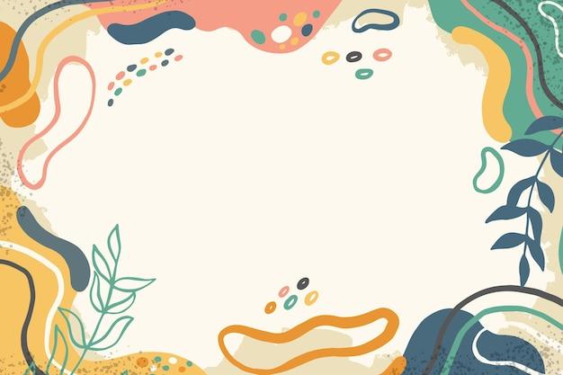 Ręcznie rysowane płaskie abstrakcyjne kształty tła