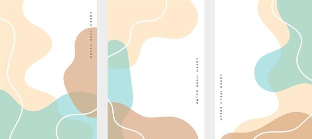 Ręcznie rysowane płynne kształty minimalistyczny design