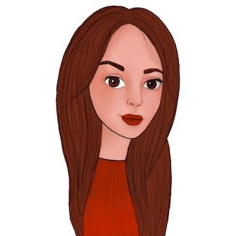 Ręcznie rysowane portret dziewczynki