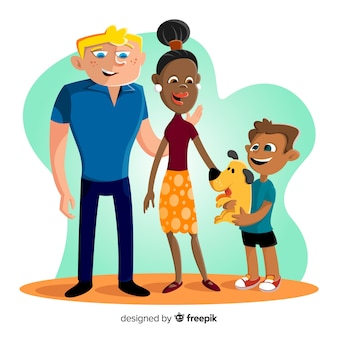 Ręcznie rysowane portret rodziny