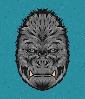 Ręcznie rysowane potwór king kong