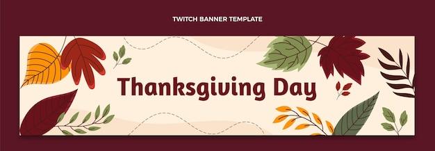 Ręcznie rysowane poziomy baner na święto dziękczynienia
