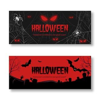 Ręcznie rysowane projekt banery halloween
