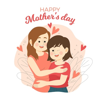 Ręcznie rysowane projekt dzień matki zdarzenia