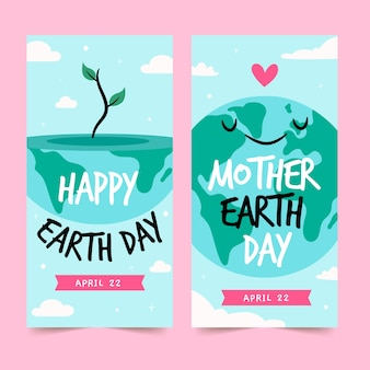 Ręcznie rysowane projekt na dzień matki ziemi