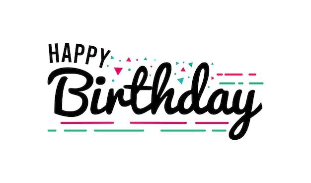 Ręcznie rysowane projekt napisu z okazji urodzin