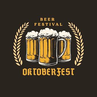 Ręcznie rysowane projekt oktoberfest