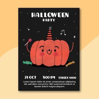 Ręcznie rysowane projekt plakatu halloween party