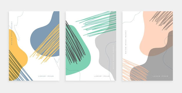Ręcznie rysowane projekt plakatu we współczesnym stylu
