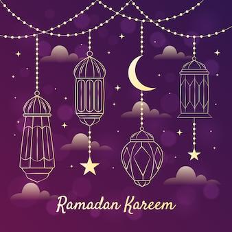 Ręcznie rysowane projekt ramadan kareem