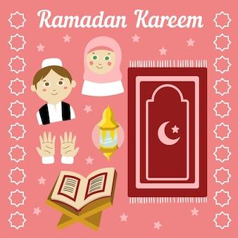 Ręcznie rysowane projekt ramadan