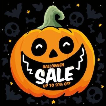 Ręcznie rysowane projekt sprzedaży halloween